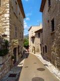 Santo Paul de Vence - calles y arquitectura Imagenes de archivo