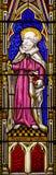 Santo Paul Stained Glass Window Imagen de archivo libre de regalías