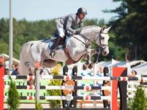 SANTO PETERSBURGO 6 DE JULIO: Rider Maxim Kryna en el desafiador 37 adentro Foto de archivo