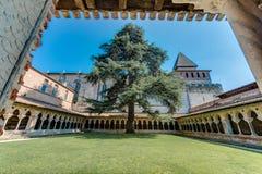 Santo Pierre Abbey en Moissac, Francia Fotografía de archivo libre de regalías