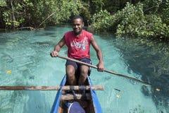 Santo, Republik Vanuatu am 25. Juli 2014 Bootsreise auf crys Lizenzfreie Stockfotos