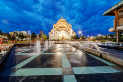 Santo Sava Temple fotografía de archivo