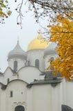 Santo Sophia Cathedral en la niebla del otoño Foto de archivo libre de regalías