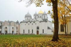 Santo Sophia Cathedral en la niebla del otoño Imagen de archivo libre de regalías