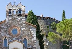 Santo Spirito Church and Castle in Gorizia Stock Photos