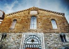 Santo Stefano al Ponte kyrka i Florence Arkivfoton