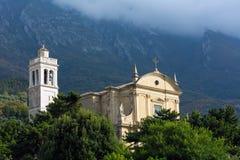 Santo Stefano church in Malcesine Stock Photo