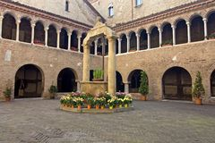 Santo Stefano  cloister in Bologna Stock Photo