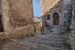 Santo Stefano Di Sessanio Village, Abruzzo, Λ' Ακουίλα Στοκ Φωτογραφία