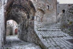 Santo Stefano di Sessanio Village Abruzzo, L'Aquila Arkivfoto