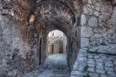 Santo Stefano di Sessanio Village Abruzzo, L'Aquila Arkivbilder