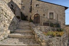 Santo Stefano di Sessanio Village Abruzzo, L'Aquila Royaltyfri Foto