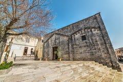 Santo Stefano-Kirche in Montelelone Roccadoria Stockbilder