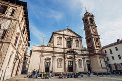 Santo Stefano Maggiore - domkyrka som placeras på piazza S stefan Royaltyfria Bilder