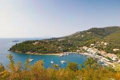 Santo Stefanos Sinion en Corfú, Grecia Imagenes de archivo