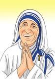 Santo Theresa Editorial Vector Illustration Imagenes de archivo