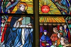 Santo Thomas Aquinas - vitral Foto de archivo