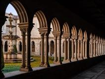 Santo Tirso, Portugal - Gothic Cloister of the medieval Sao Bento monastery royalty free stock image