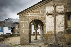 Santo Tomás Apóstol church in Otero de Sanabria village, Zamora, Spain. The Santo Tomás Apóstol church in Otero de Sanabria village, Zamora, Spain Royalty Free Stock Image