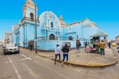 Santo Tomas Church dans le haut secteur Lima photos stock