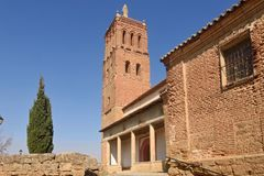 Santo Tomas church in Villanueva del Campo, Stock Image