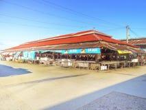 Santo Tomas Jawnego rynku Rybia i Mięsna sekcja Fotografia Royalty Free