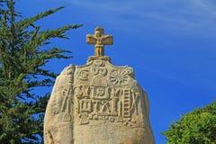 Santo Uzec del menhir Imagen de archivo libre de regalías