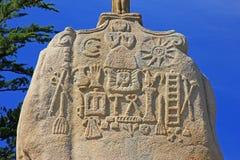 Santo Uzec del menhir Foto de archivo