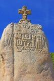 Santo Uzec del menhir Imágenes de archivo libres de regalías