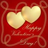 Santo Valentine Greeting Card del vector Imágenes de archivo libres de regalías