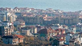 Santo Vlas, Bulgaria de la visión superior Foto de archivo