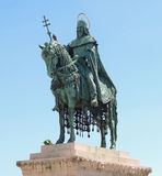 Santo y rey montados en Budapest cuadrada del héroe Imagen de archivo libre de regalías