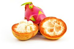 Santol and dargon fruit is famous Royalty Free Stock Images