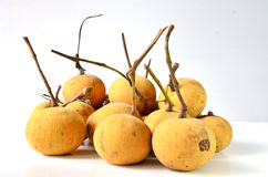 Santol. Sold in the local fruit market Stock Images
