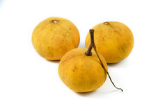 Santol on white background. Three Santol on white background Stock Photography