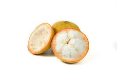 Santol on white background. Two Santol on white background Royalty Free Stock Photography