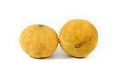 Santol on white. Two santol on white background Royalty Free Stock Images