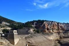 Santoleareservoir in Teruel, Spanje stock afbeeldingen