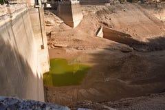Santoleareservoir in Teruel, Spanje stock foto's