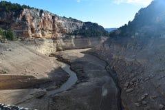 Santoleareservoir in Teruel, Spanje royalty-vrije stock foto