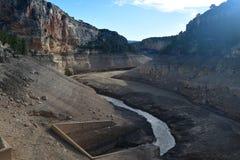 Santoleareservoir in Teruel, Spanje stock afbeelding