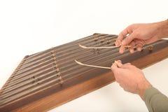 Santoor. Iranian Wooden dulcimer musical instrument Stock Photography