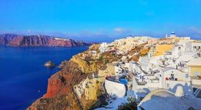 Santori Ansicht über Oia, Santorini Lizenzfreies Stockfoto