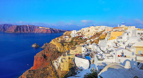 Santori. View over Oia, Santorini. Ancient city of Oia, Santorini, Cyclades, Greece Royalty Free Stock Photo