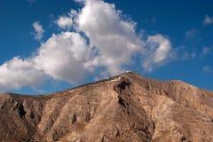 Santorin,希腊,欧洲美丽如画的看法  库存图片
