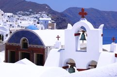 Santorin. A greek church Royalty Free Stock Images