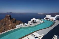 Santorini在希腊 库存图片