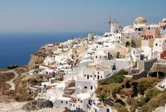 Santorini横向 免版税库存图片