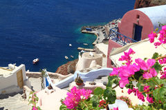 Santorini海岛在希腊 免版税库存照片