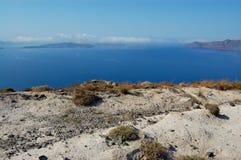Santorini海岛火山视图 免版税库存图片